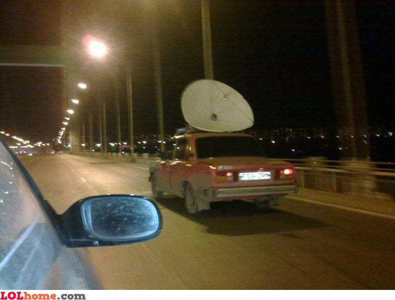 Mobile satellite TV