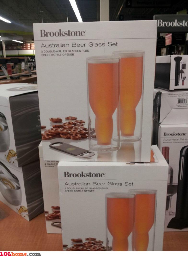 Australian beer glass