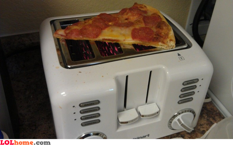 Reheat the pizza