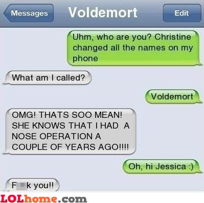 Voldemort's nose operation
