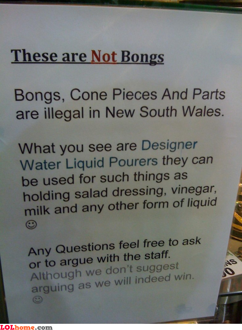 These are not bongs