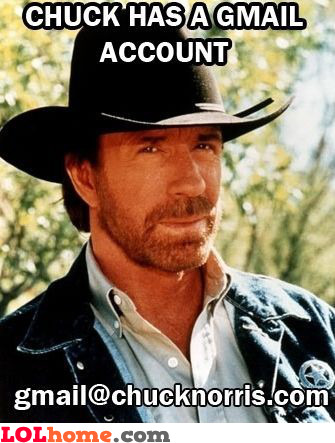 Chuck Norris' Gmail account