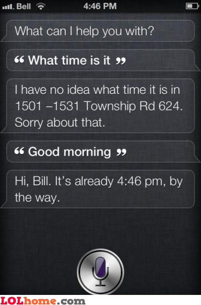 Siri, what time is it?