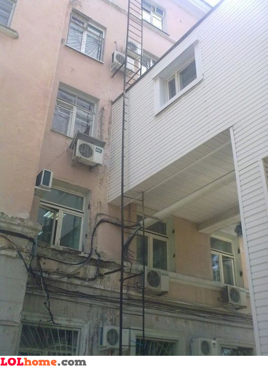 No need for a fire escape