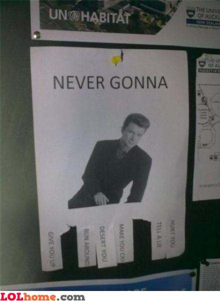 Never gonna