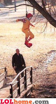 Ronald being hanged
