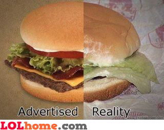 Advertised versus reality