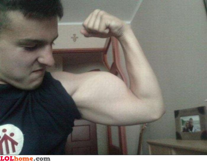 Photoshopped muscle