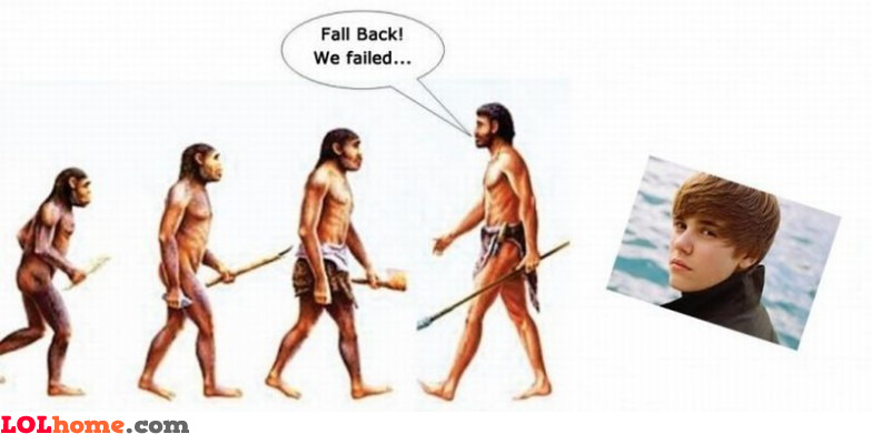 Justin Bieber failed evolution