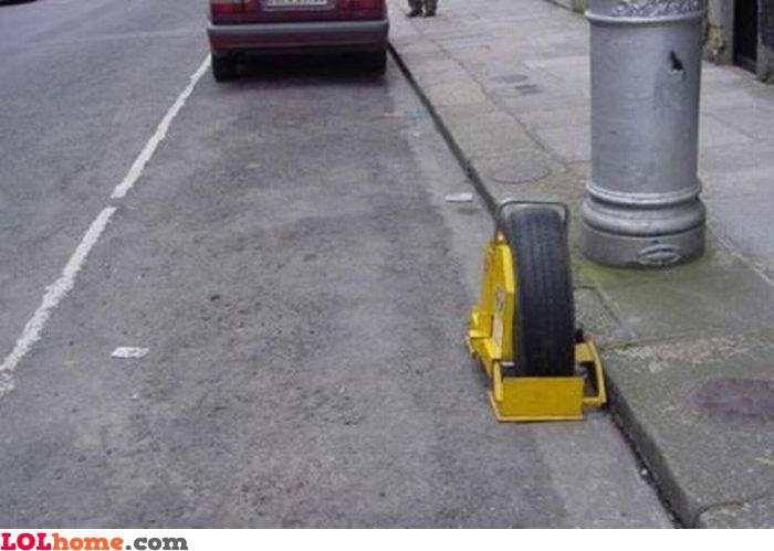 Blocked wheel