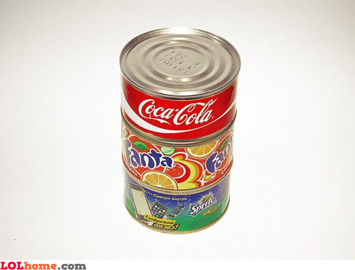 Soda in a can