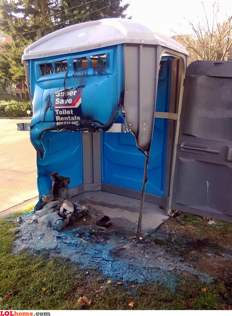 Explosive diarrhea toilet just b cause Esdifan