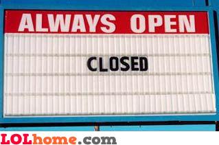 always open sign