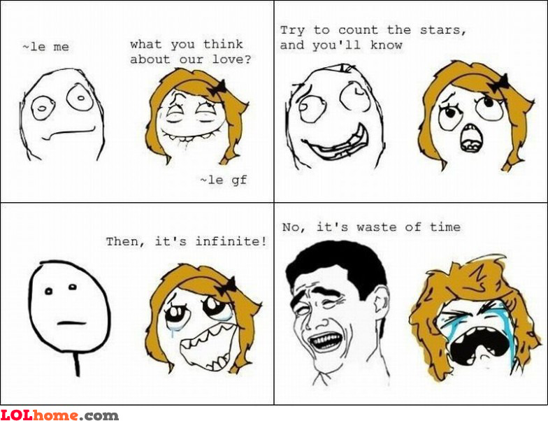 Funny Quotes On Love Is Waste Of Time : Love is a waste of time Funny pic