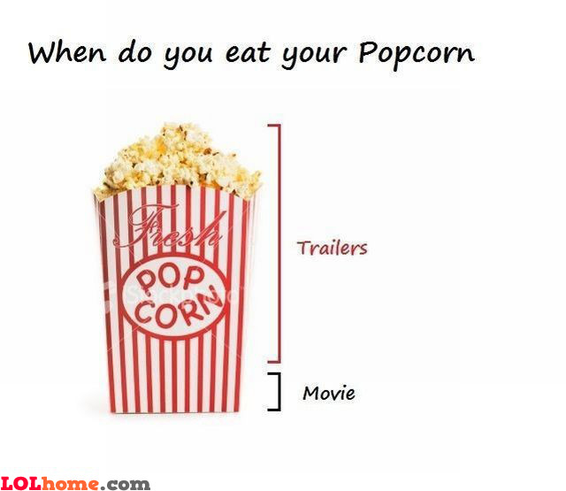 When do you eat your popcorn?