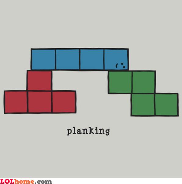 tetris planking - Tetris Planken