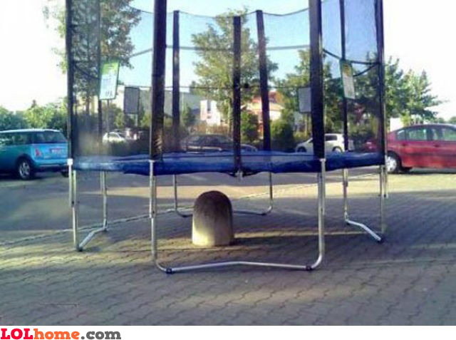Trampoline positioning fail