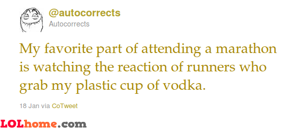 Vodka for the runners