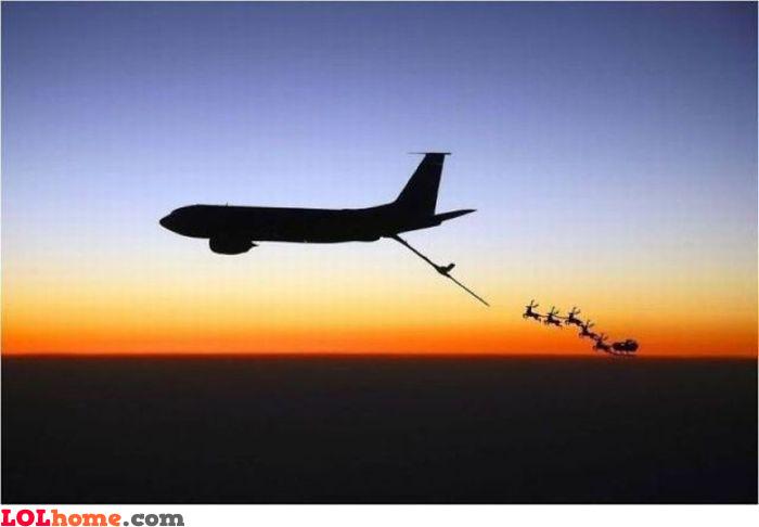 Refueling Santa