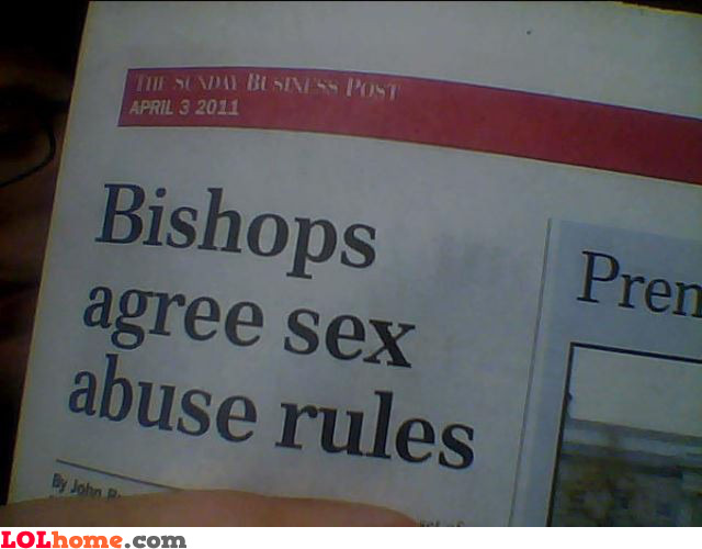 Sex abuse rules