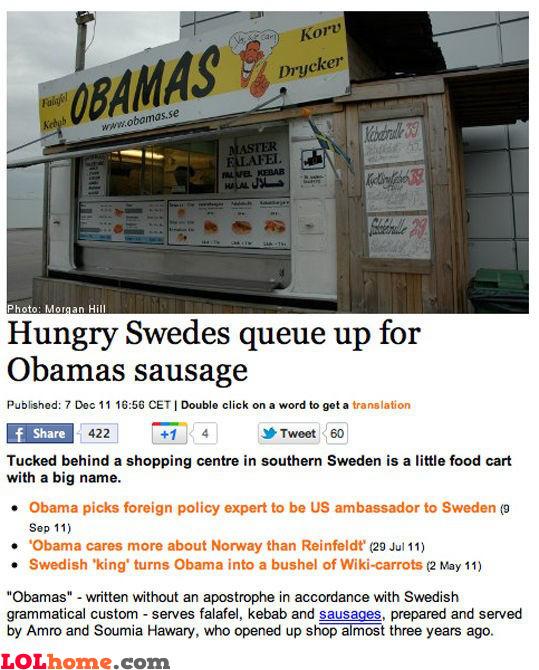 Obamas sausage