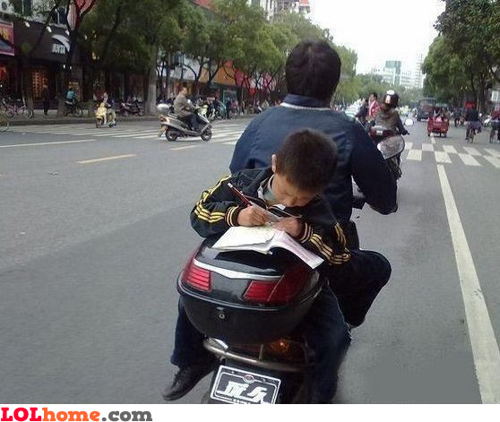 In Asia you got to study hard