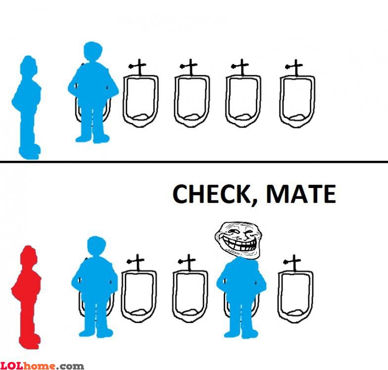 Toilet etiquette fail