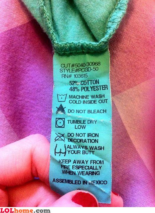 Clothing advice