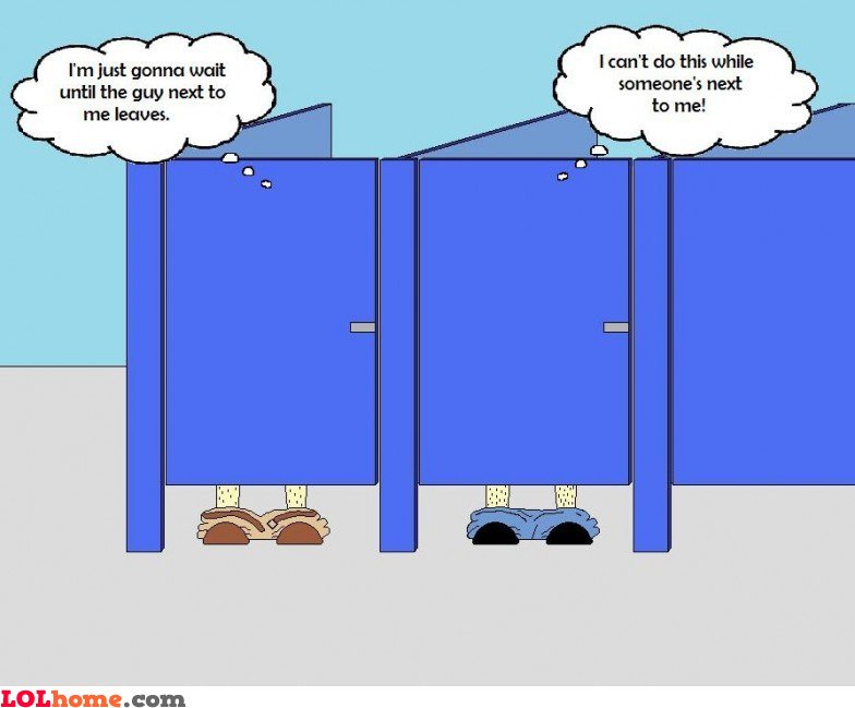 Common public bathroom problem