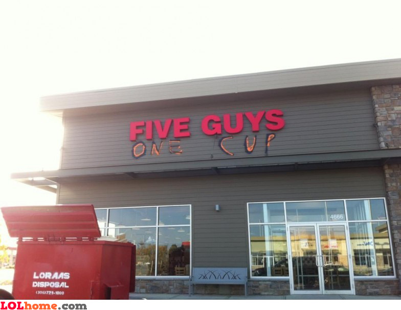 Five guys one cup