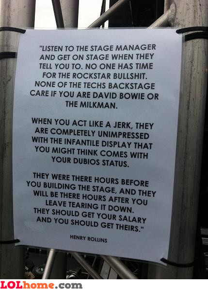 Cut the rockstar bullshit