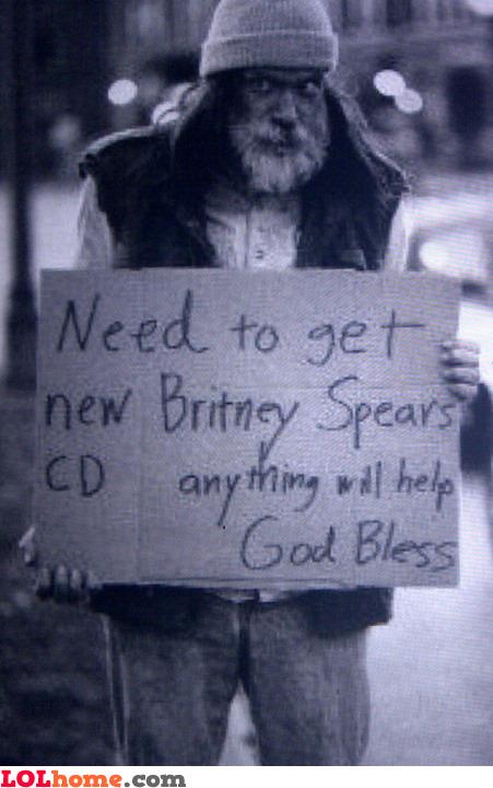 Money for Britney Spears cd
