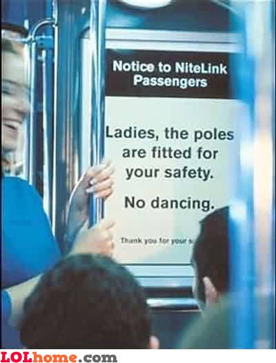 no dancing please
