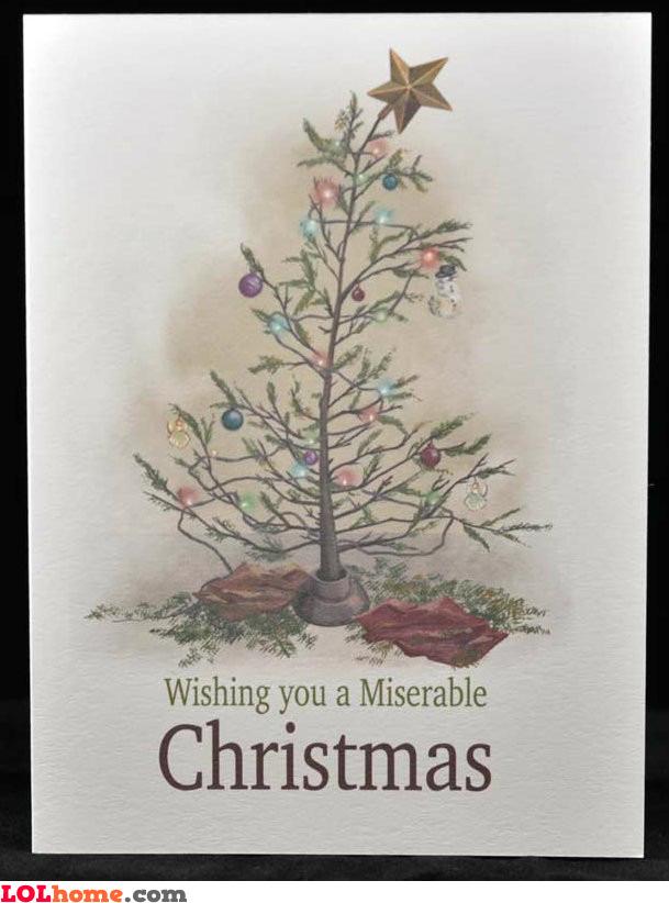 Sad Christmas Card
