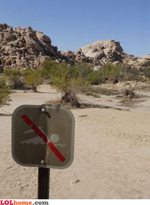 No sand swimming