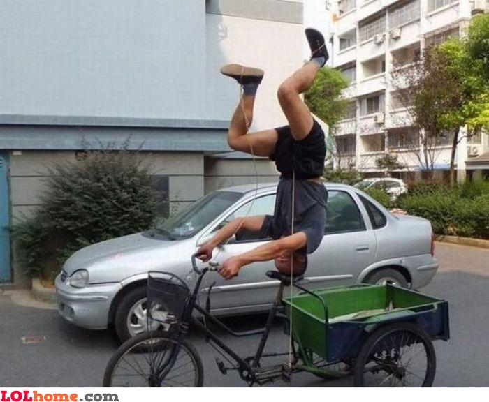 Reversed biking
