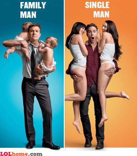Family man versus single man