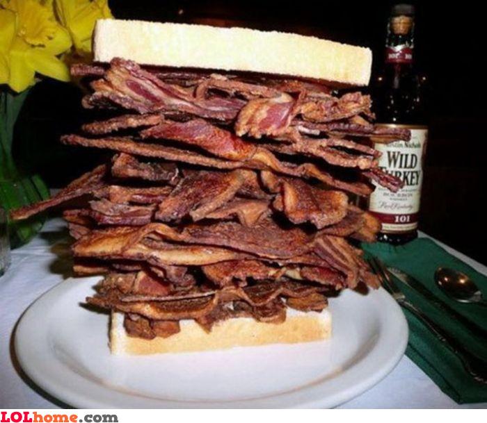 A little bacon