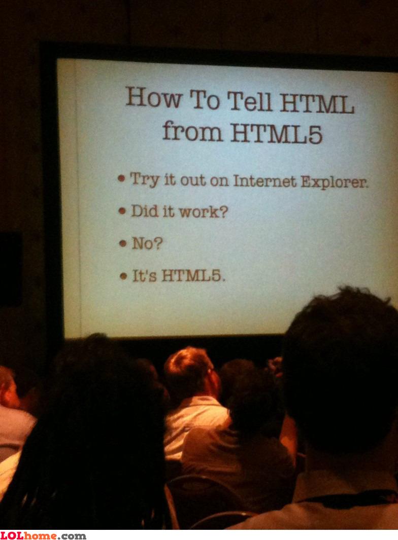 HTML versus HTML 5