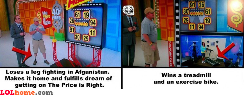 The price is right trolling