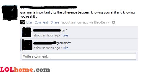 Grammar is important