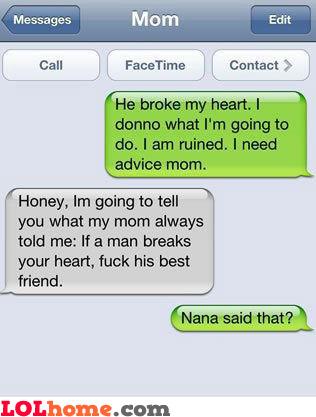 Grandma said what?