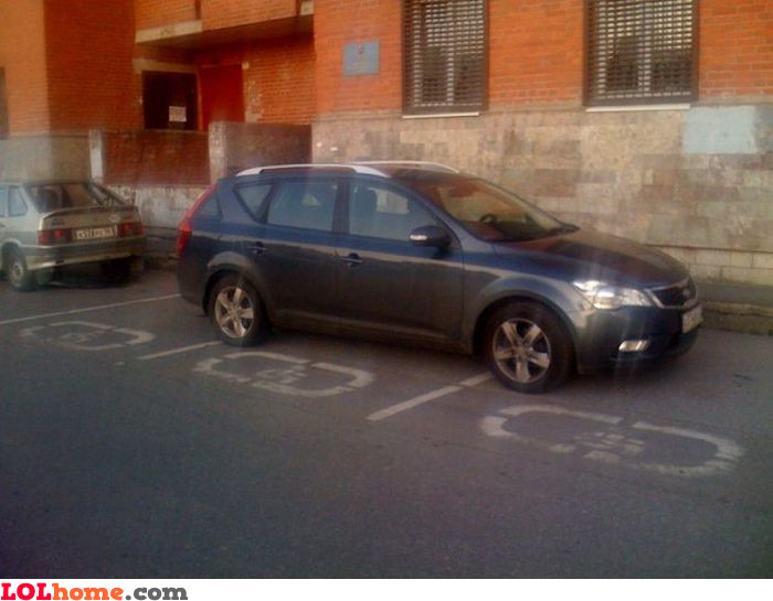 Asshole parking example