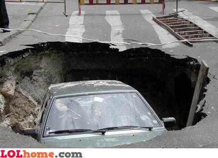 giant pot hole