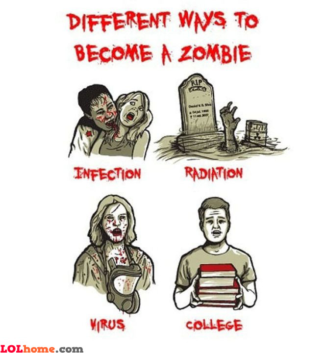 Ways to become a zombie