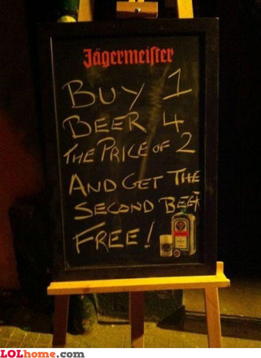 Great beer offer