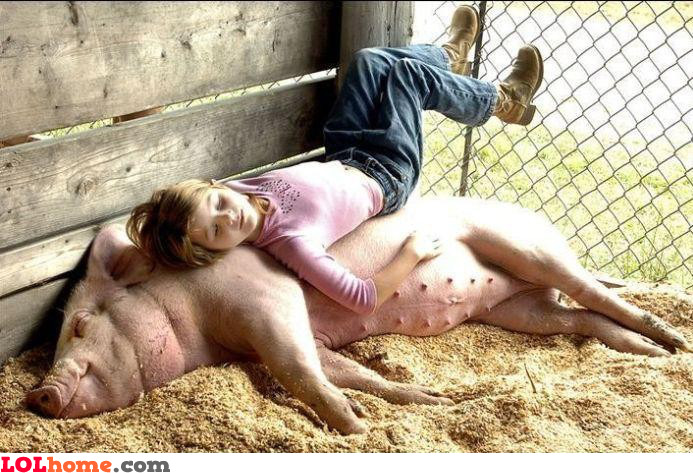 Women love pigs