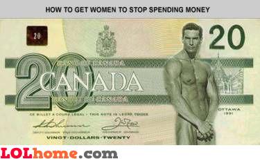 how to get women to stop spending money