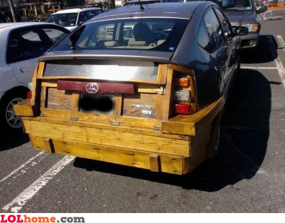 Part-wooden cart