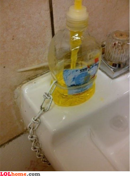Locked soap